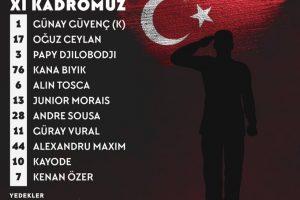 Gazişehir'de 11'ler açıklandı